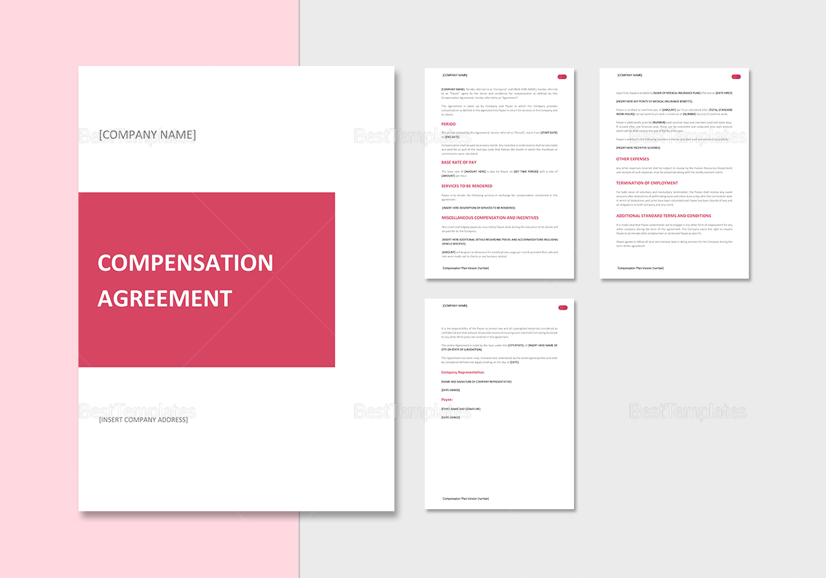 Unusual compensation agreement template gallery example resume compensation agreement template in word google docs apple pages platinumwayz