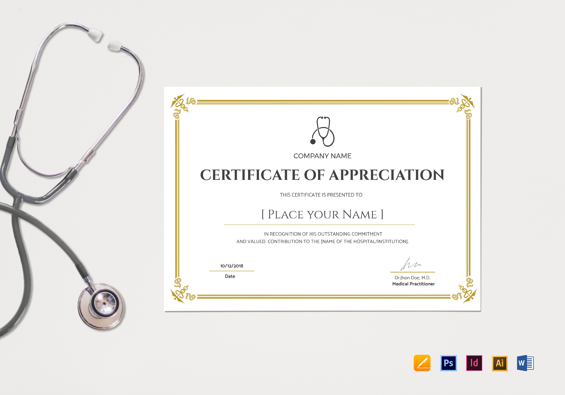 Medical Appreciation Certificate
