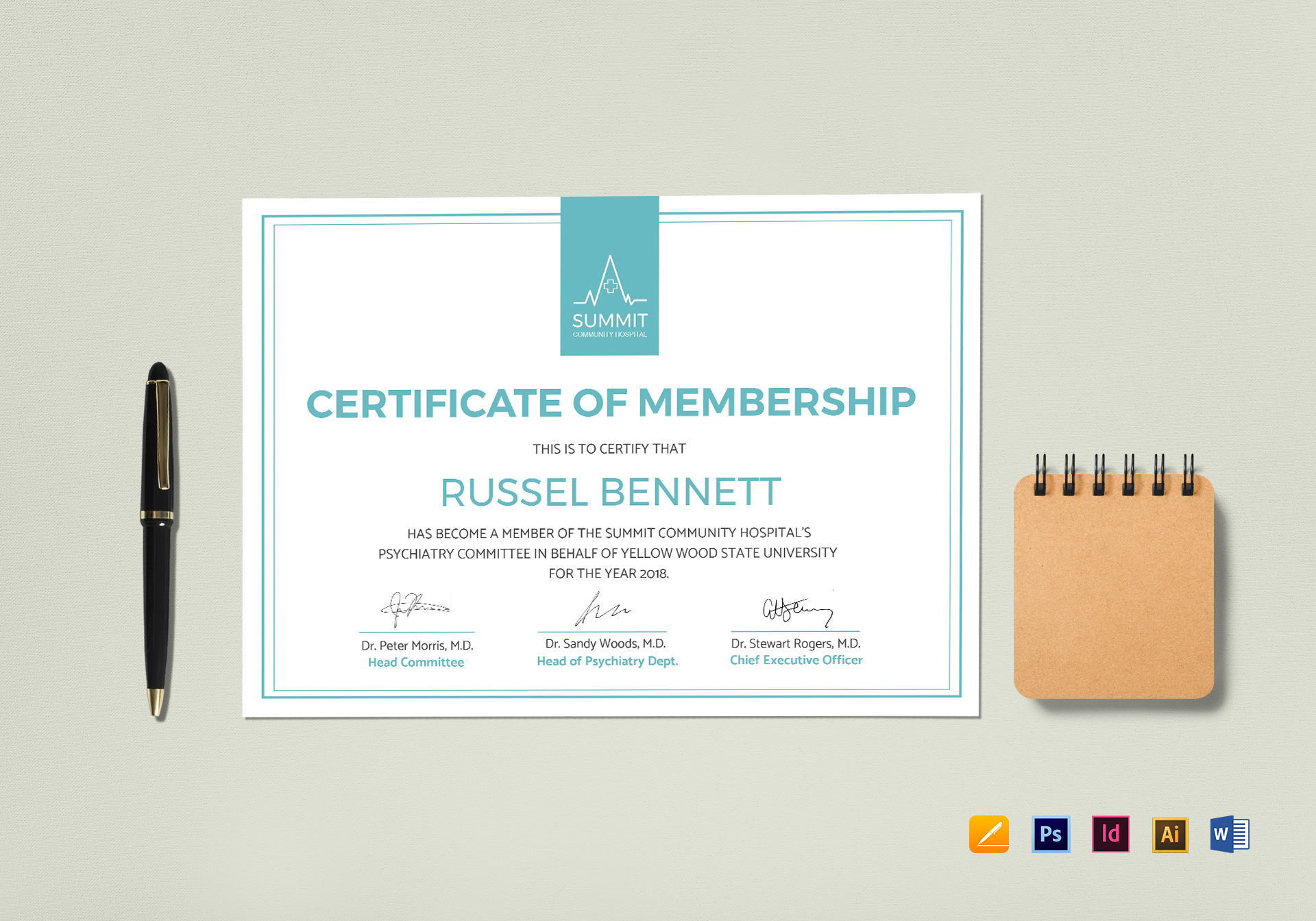 Medical Membership Certificate Template
