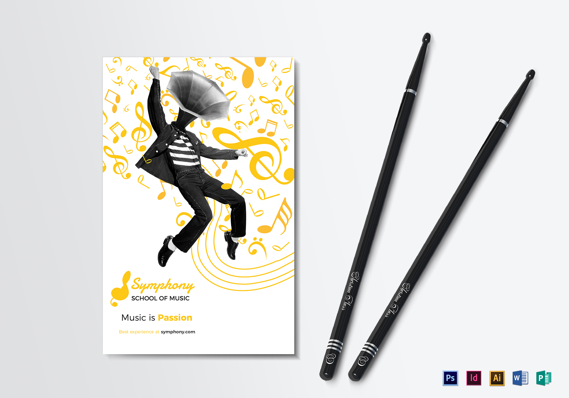 Creative Music Bi-fold Brochure Template