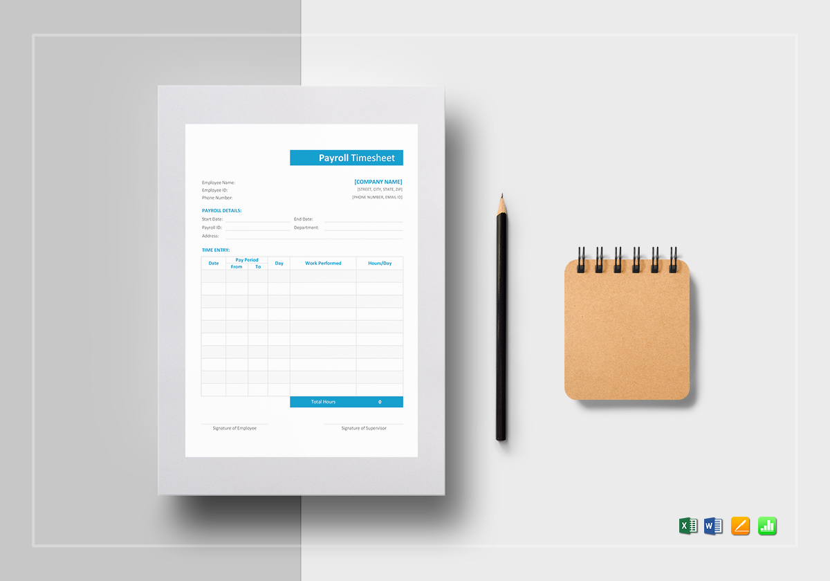 sample payroll timesheet template in word excel apple pages numbers