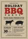 Barbecue Party Invitation Card Design Template