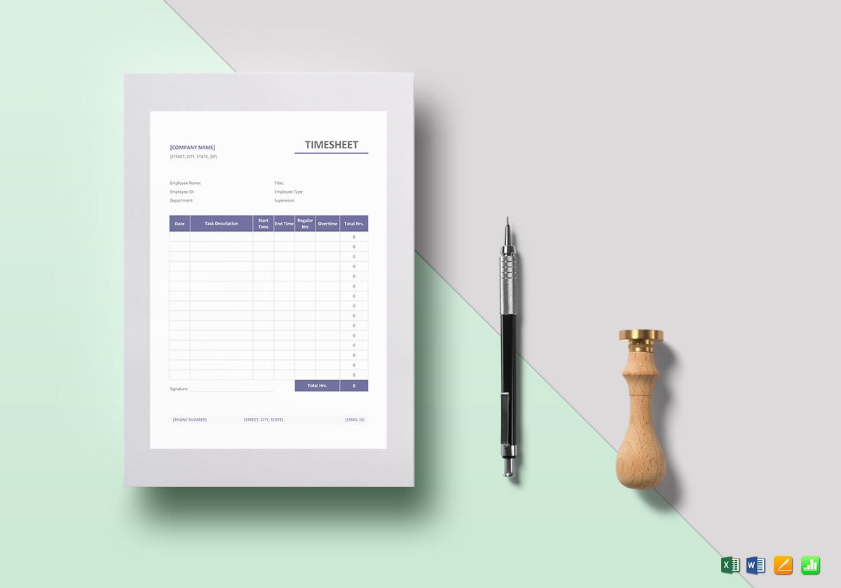 simple timesheet template in word excel apple pages numbers