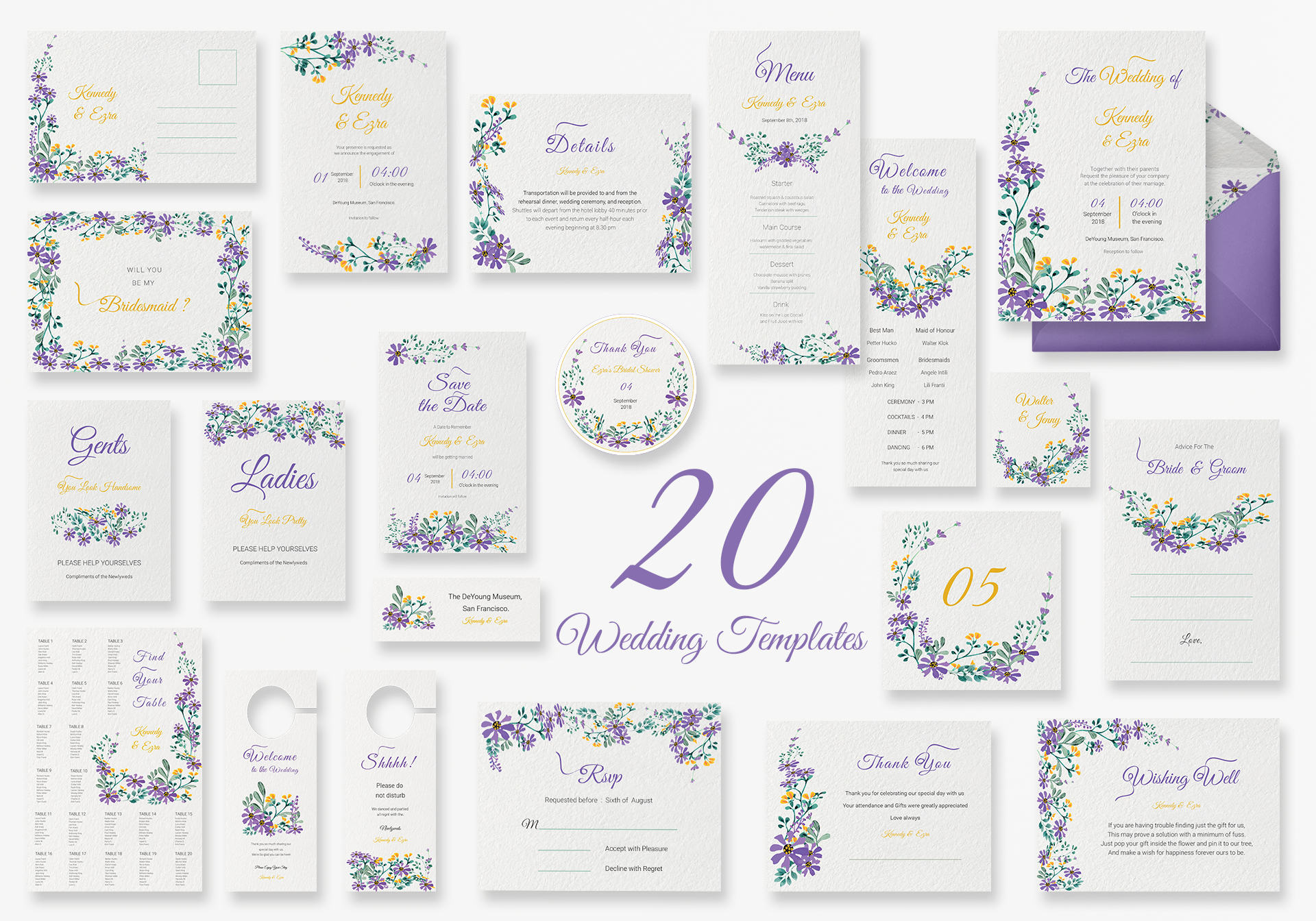Garden Wedding Templates (Includes 20 Designs)