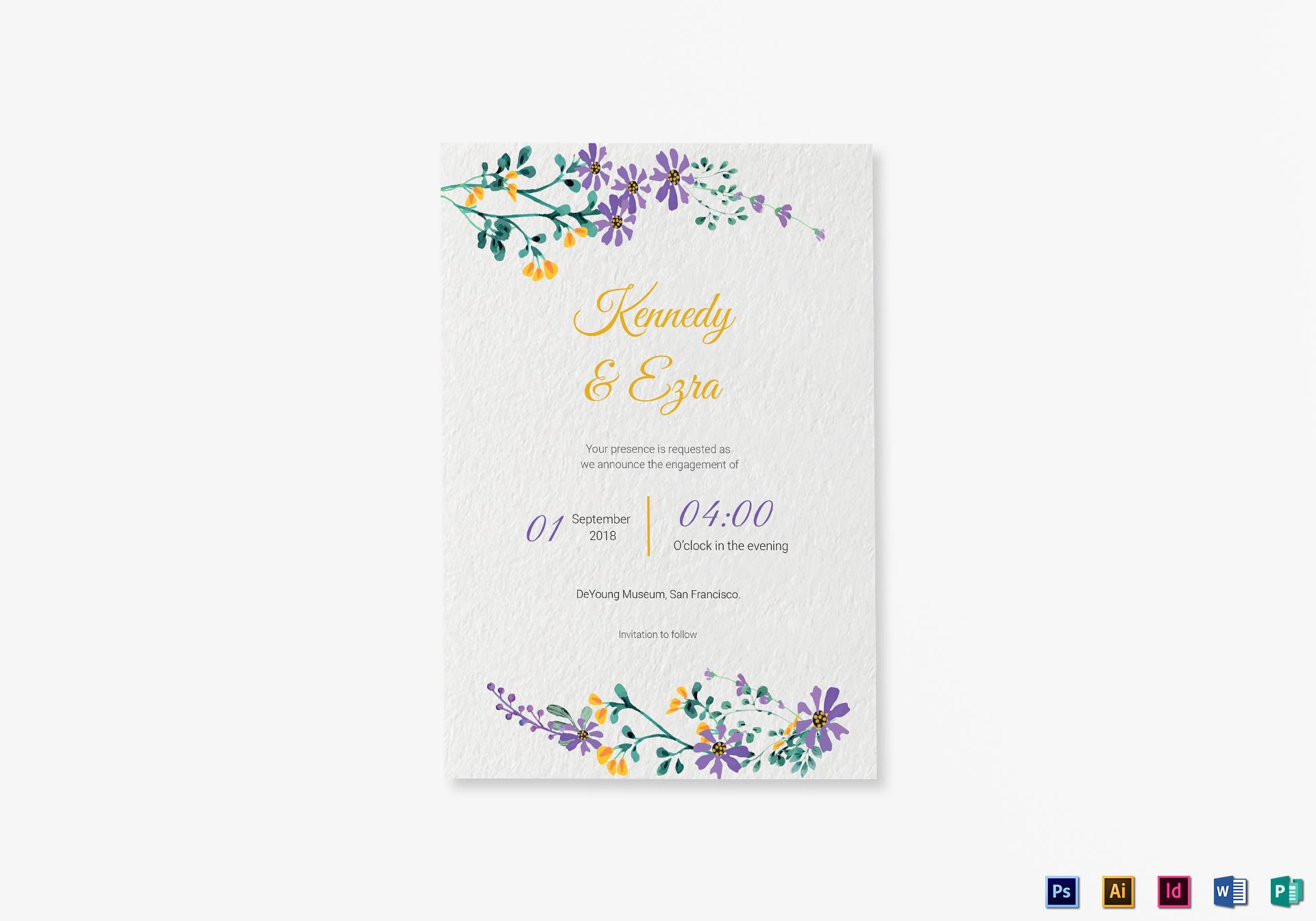 Garden Engagement Announcement Card