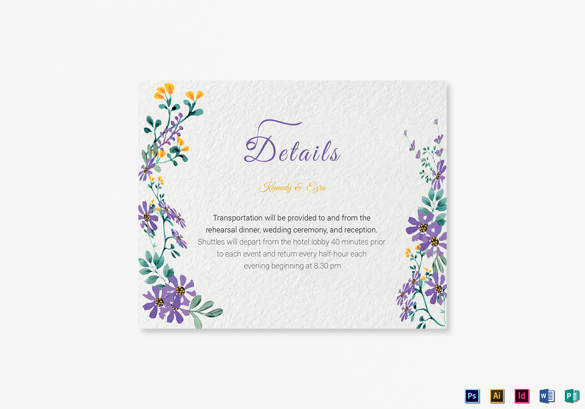 Garden Details Card Template