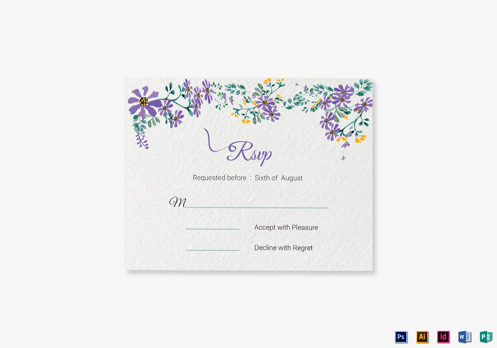 Garden RSVP Card Template in PSD, Word, Publisher, Illustrator, InDesign