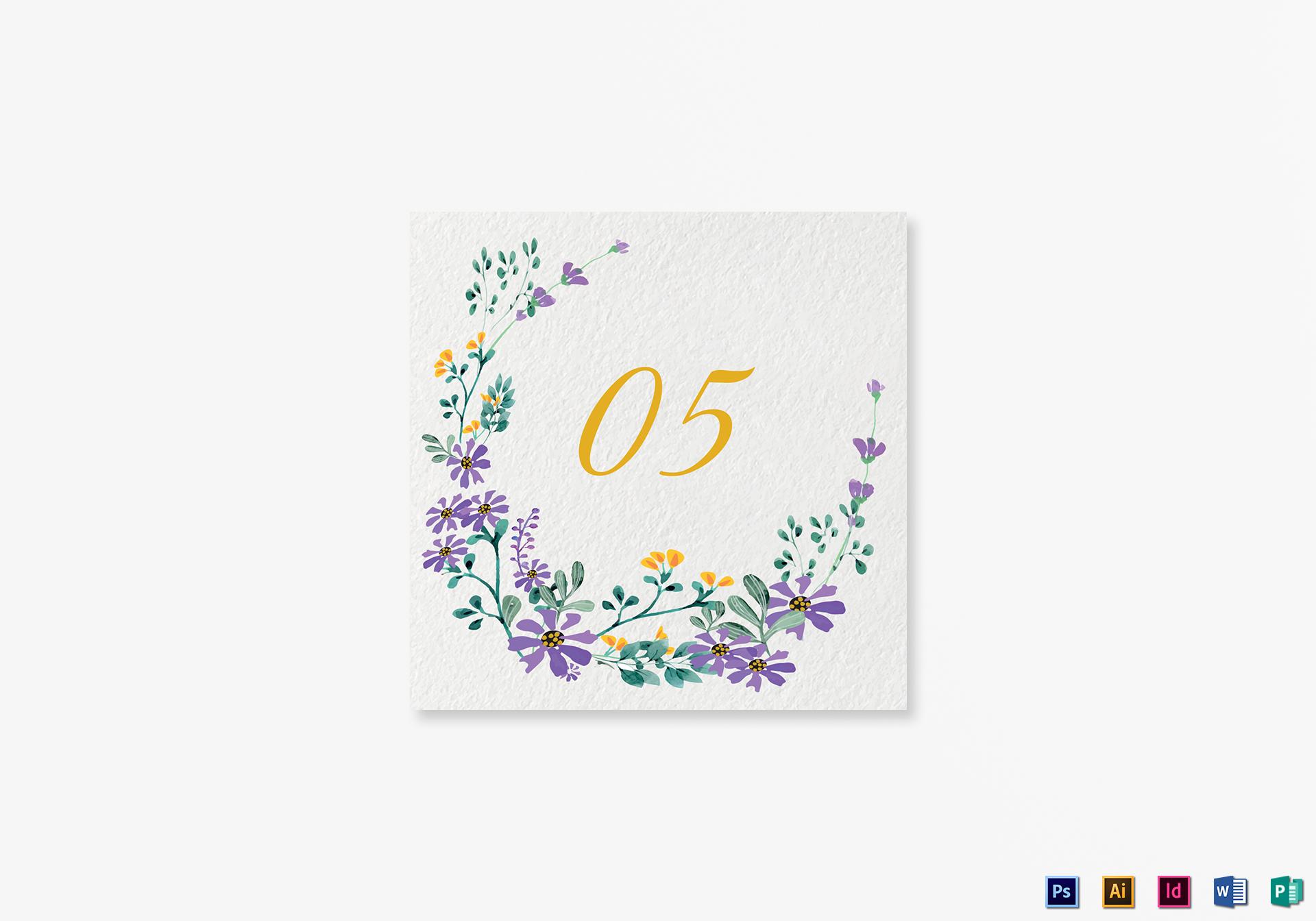 Garden Table Card