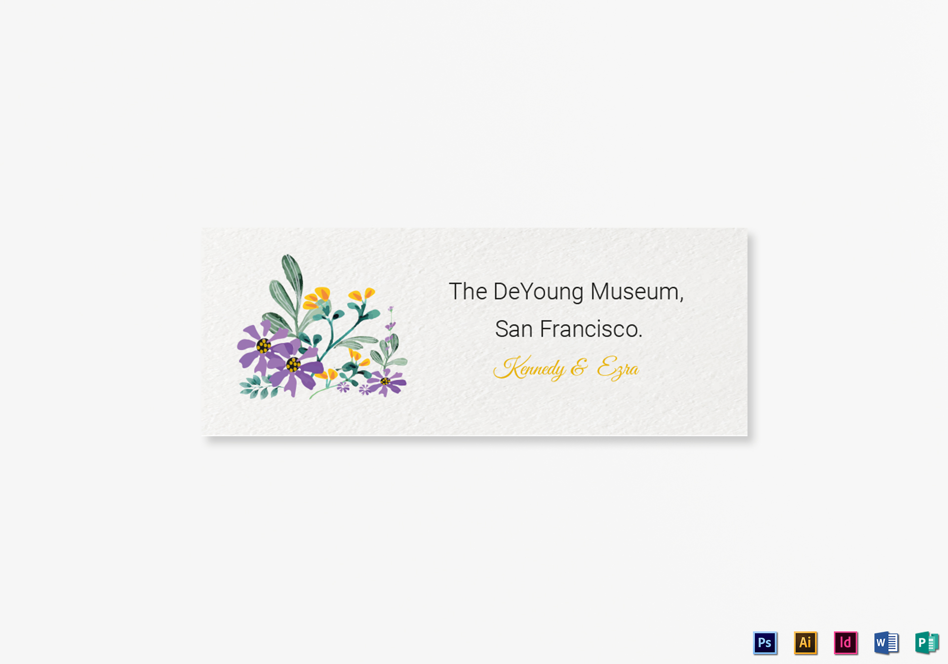 Wedding Address Labels Card Template