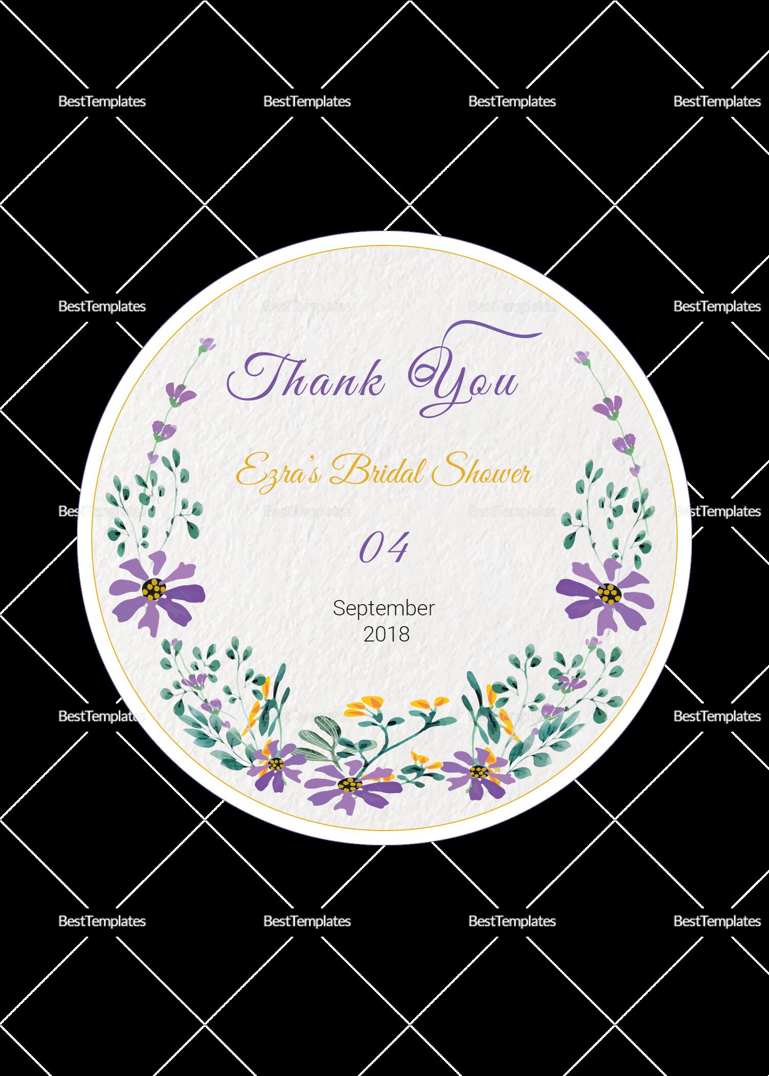 Garden Wedding Label