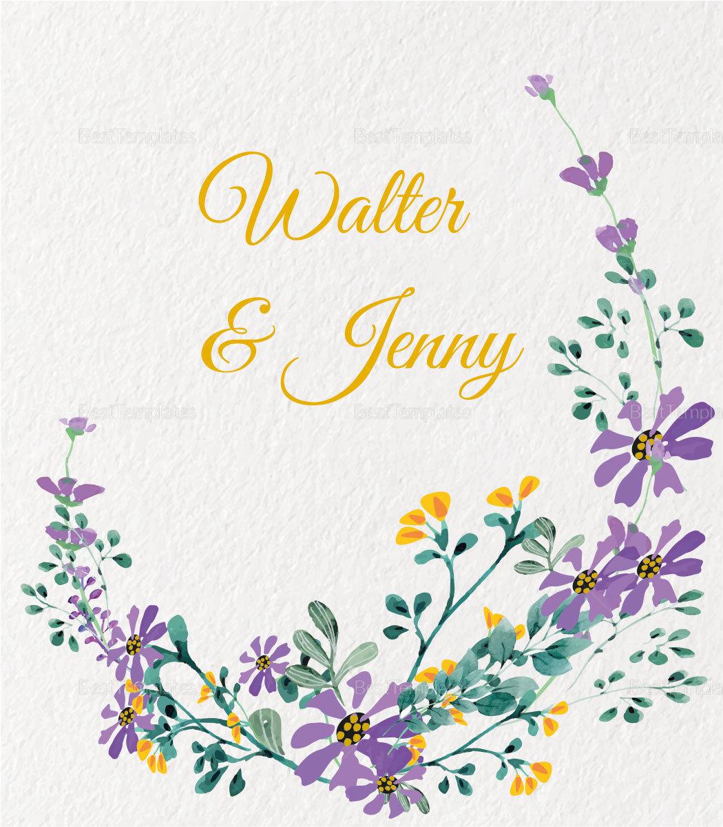Garden Wedding Place card