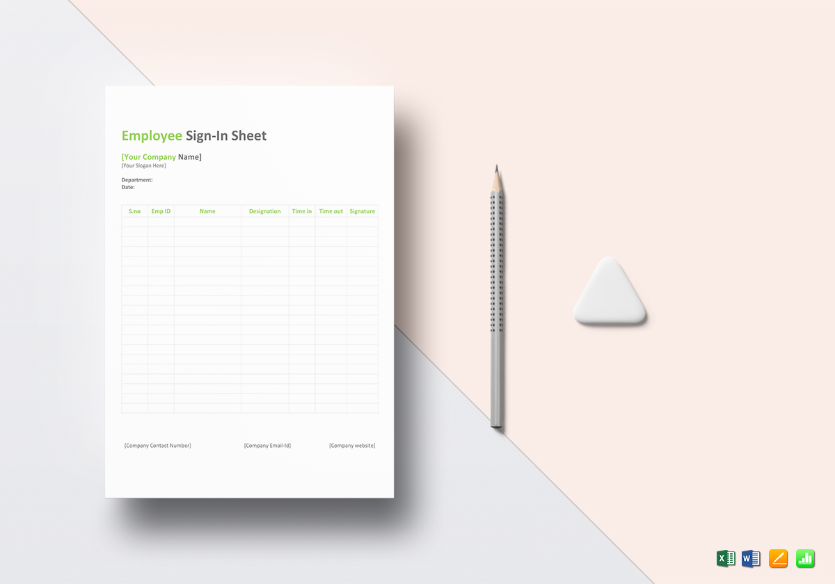 Employee Sign in Sheet Template