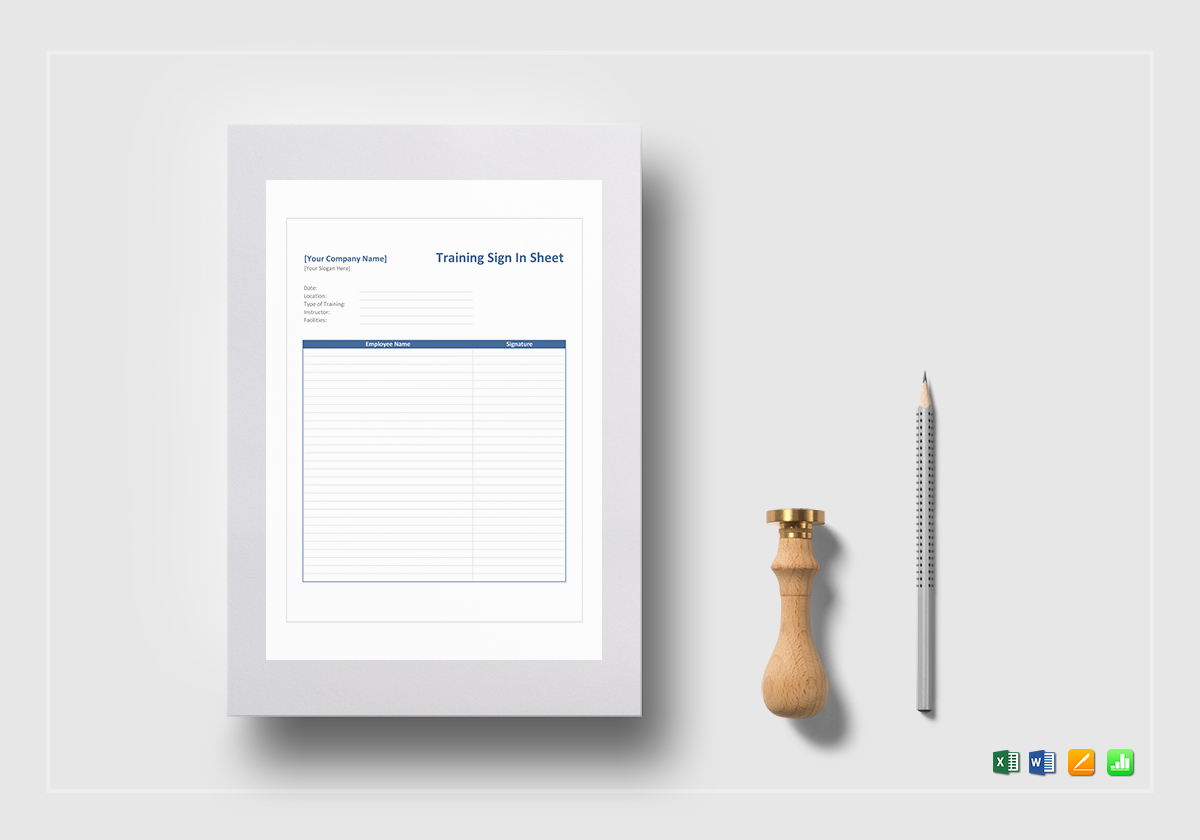 Training Sign in Sheet Template