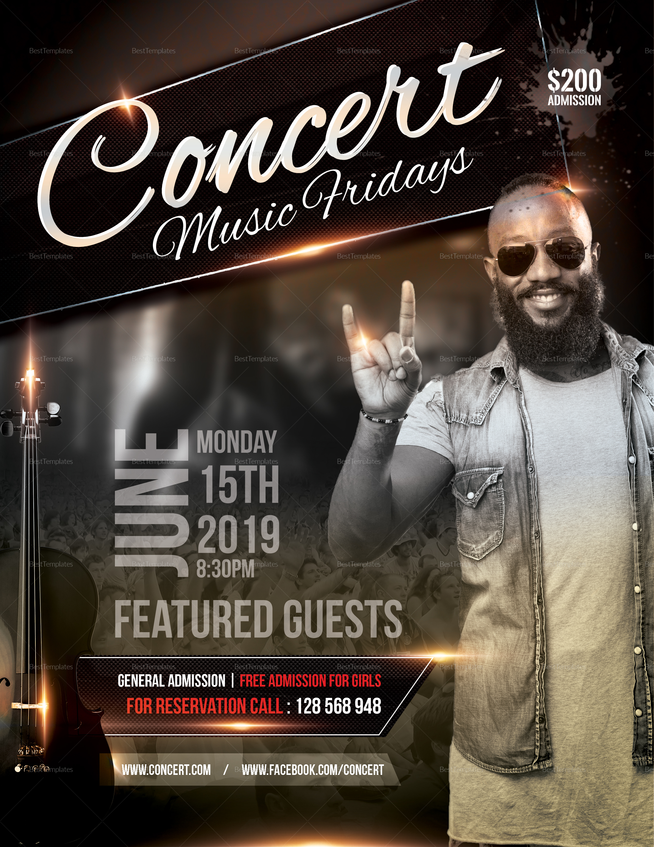 Rock Club Concert Flyer Template