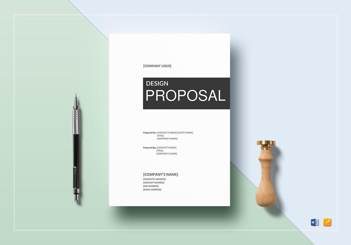Design Proposal Template In Word Google Docs Apple Pages
