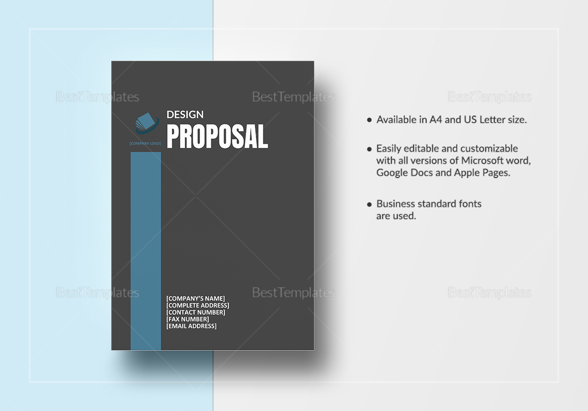 Sample Graphic Design Proposal Sample Letter Of Intent To Purchase Sample  Design Proposal Template Sample Graphic