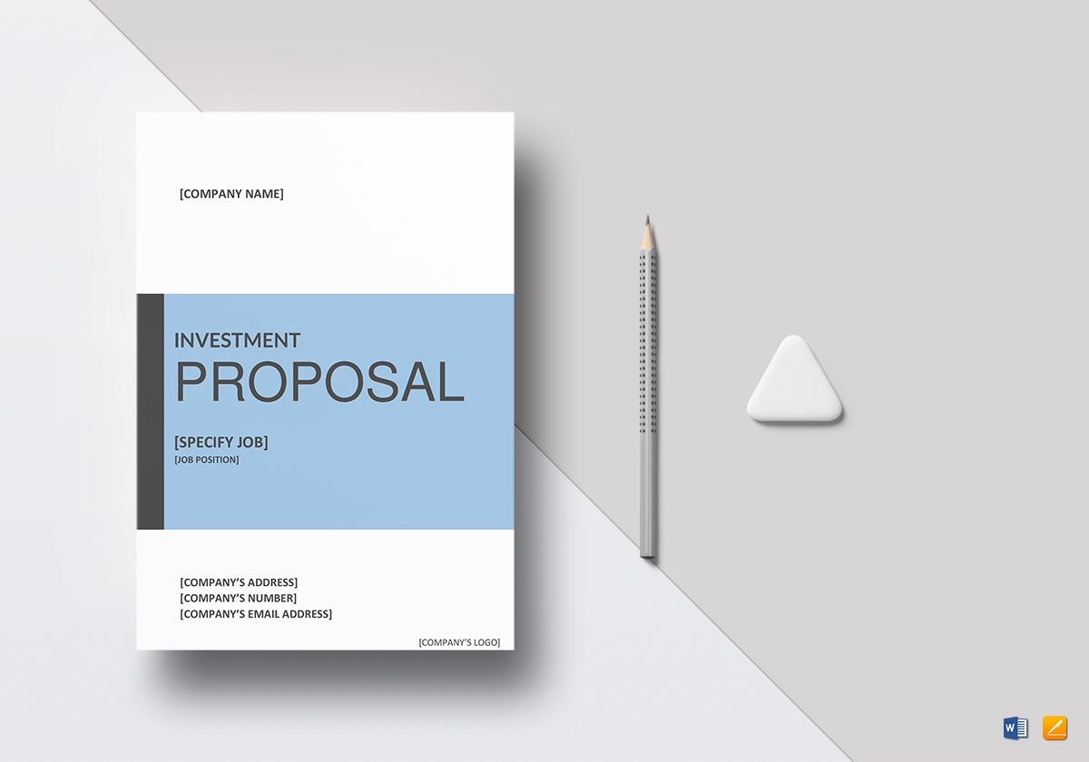Sample investment proposal template in word google docs apple pages sample investment proposal template altavistaventures Image collections