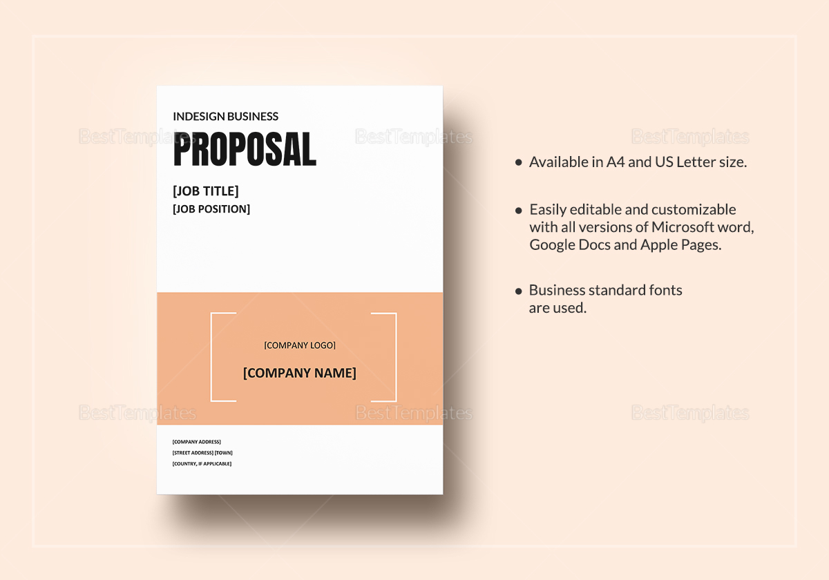 Amazing Indesign Proposal Template Images - Entry Level Resume ...
