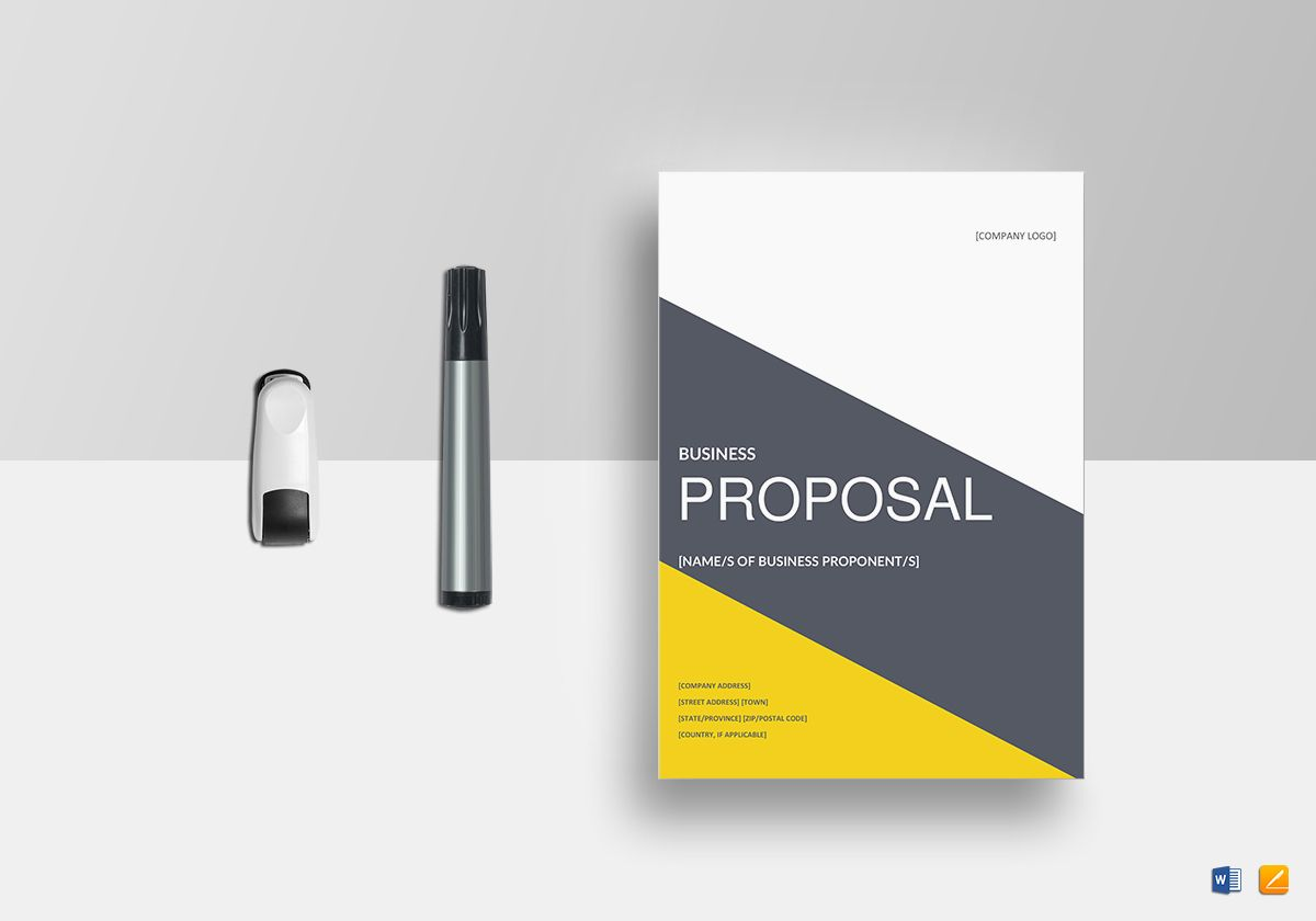 Business Proposal Template in Word, Google Docs, Apple Pages