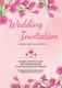 Pink Floral Wedding Invitation Card Design