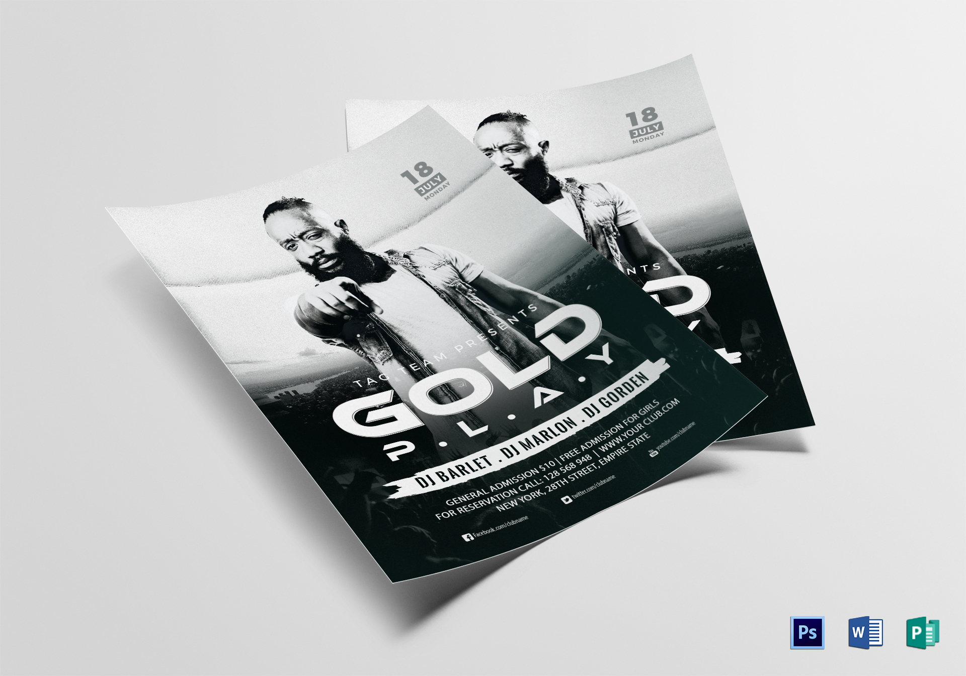 concert flyer template publisher - Dolap.magnetband.co
