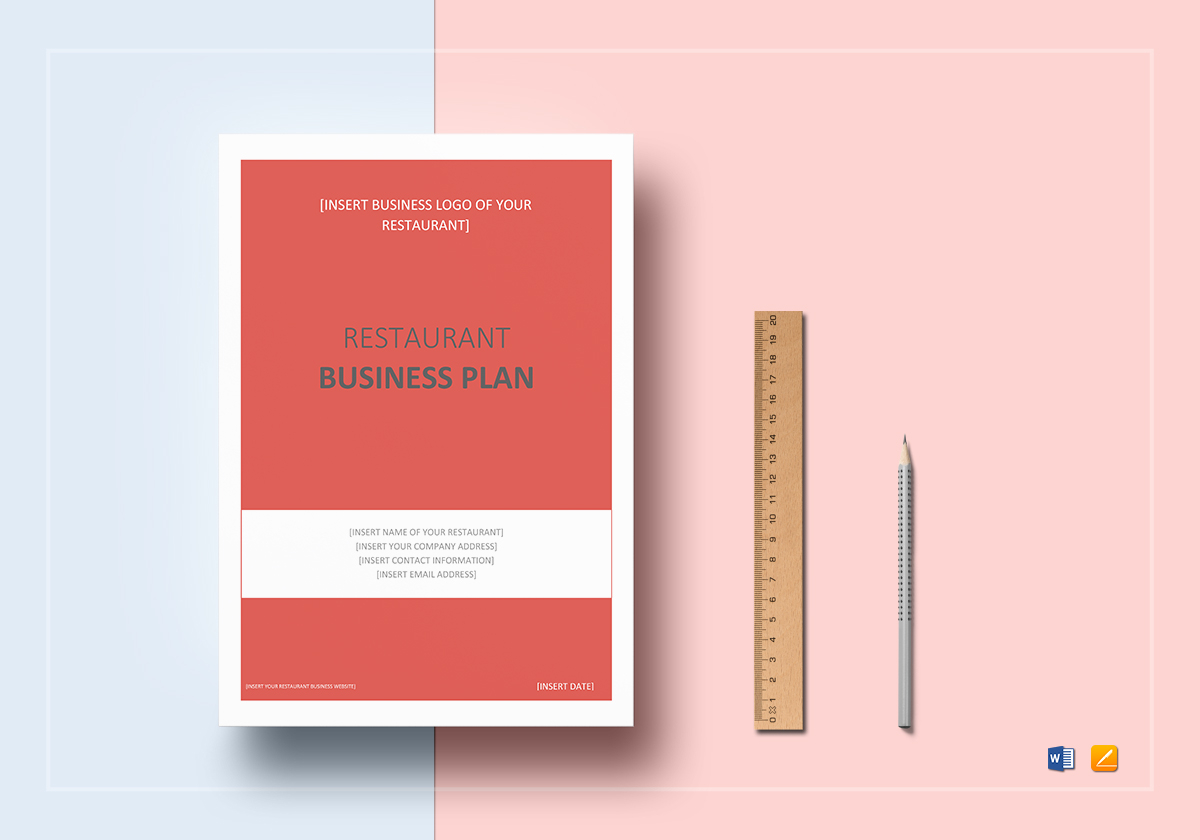 restaurant business plan template in word google docs apple pages
