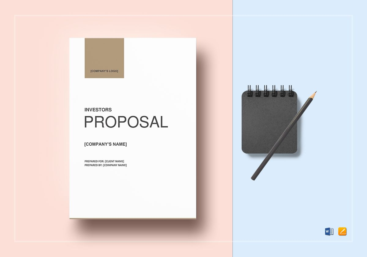 Business Proposal For Investors Template In Word Google Docs Apple