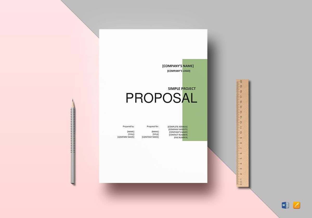 Simple Project Proposal Template In Word Google Docs Apple Pages - Google docs project proposal template