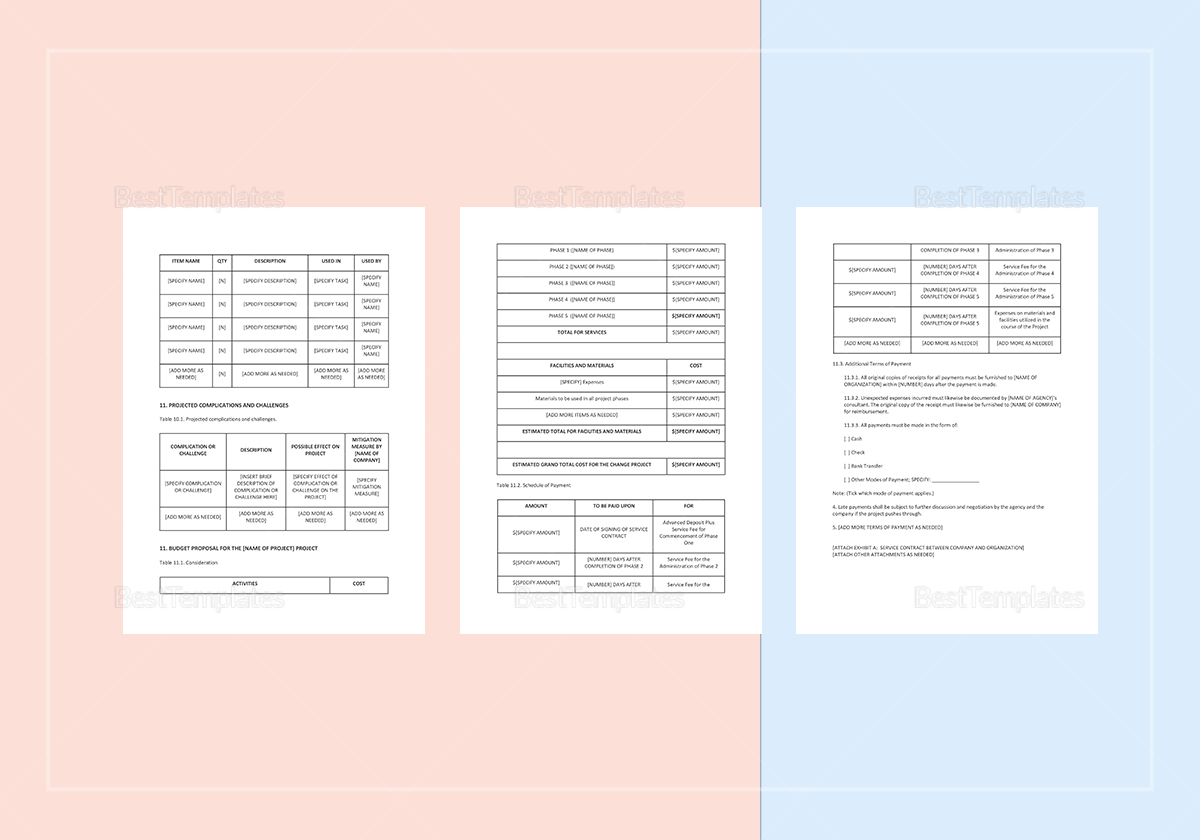 technical proposal template in word  google docs  apple pages