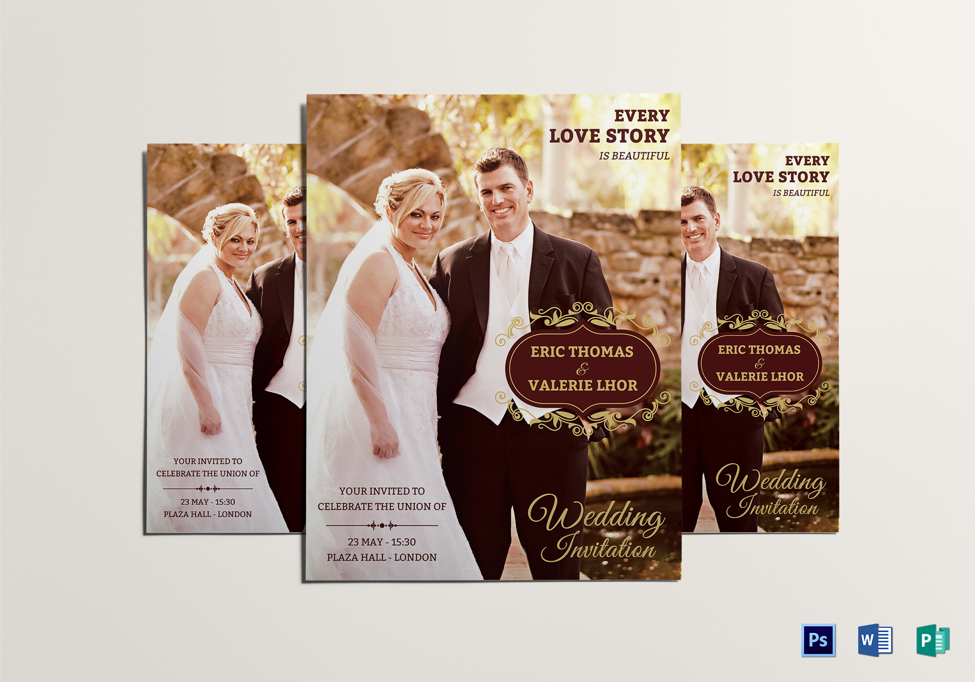 Wedding Flyer Design Template In Word Psd Publisher