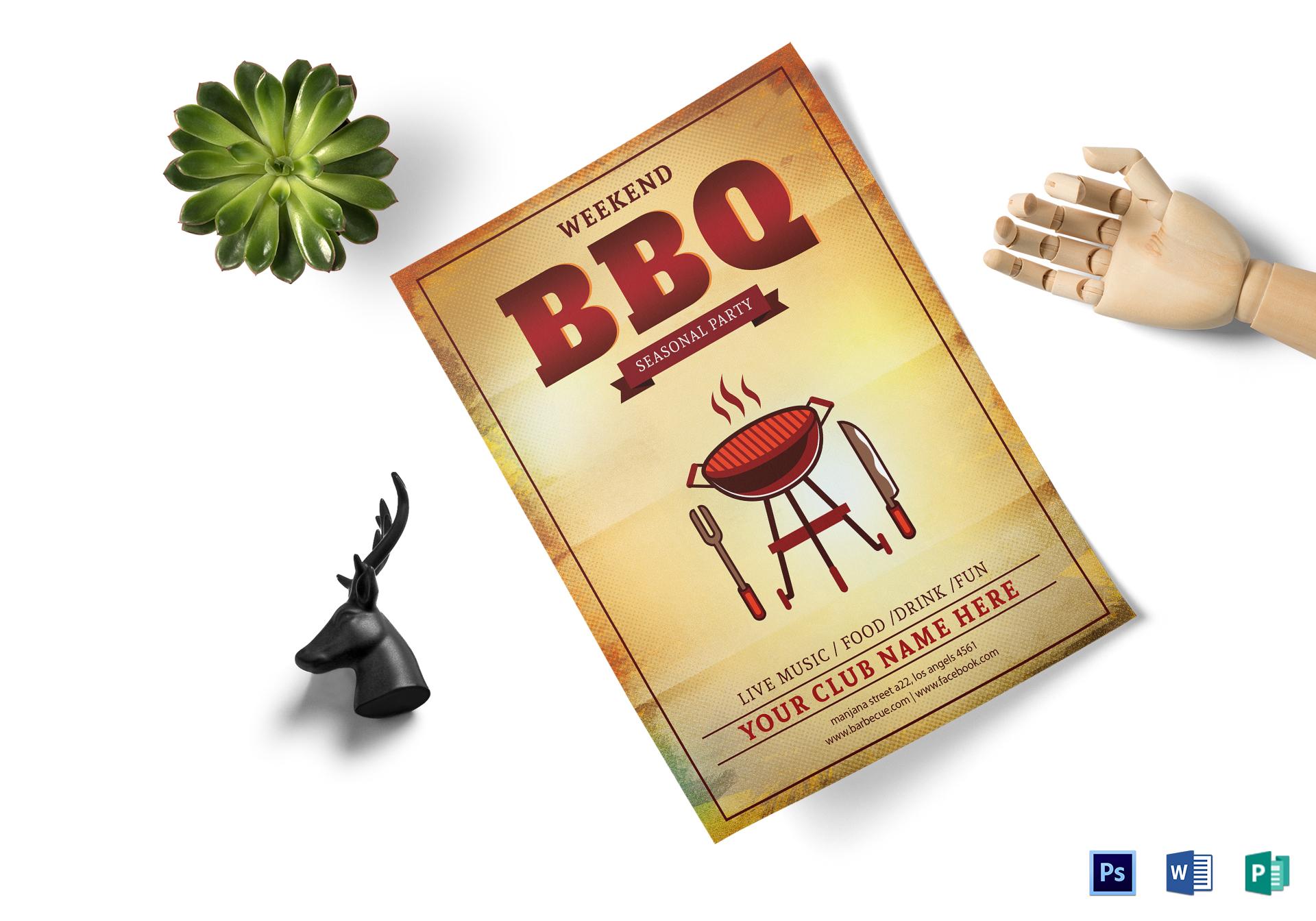 Weekend BBQ Seasonal Party Flyer