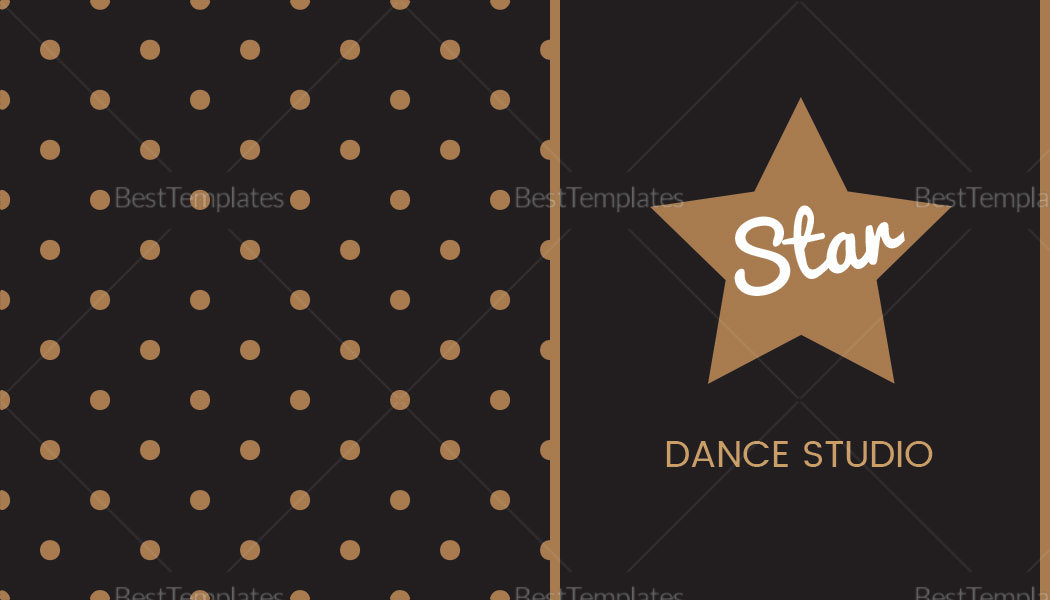 Sample Dotted Business Card Template