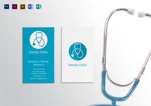 Medical business card design templates in word psd publisher doctor business card template flashek Choice Image