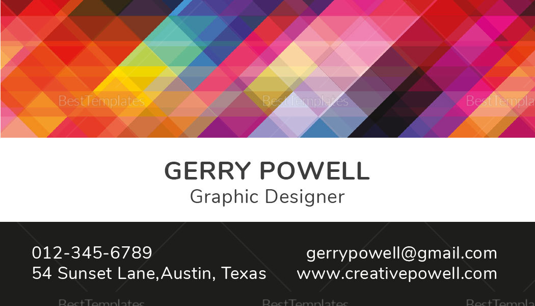 Creative Individual Business Card to Edit