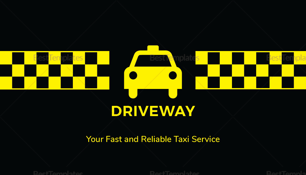 Sample Taxi Business Card Template