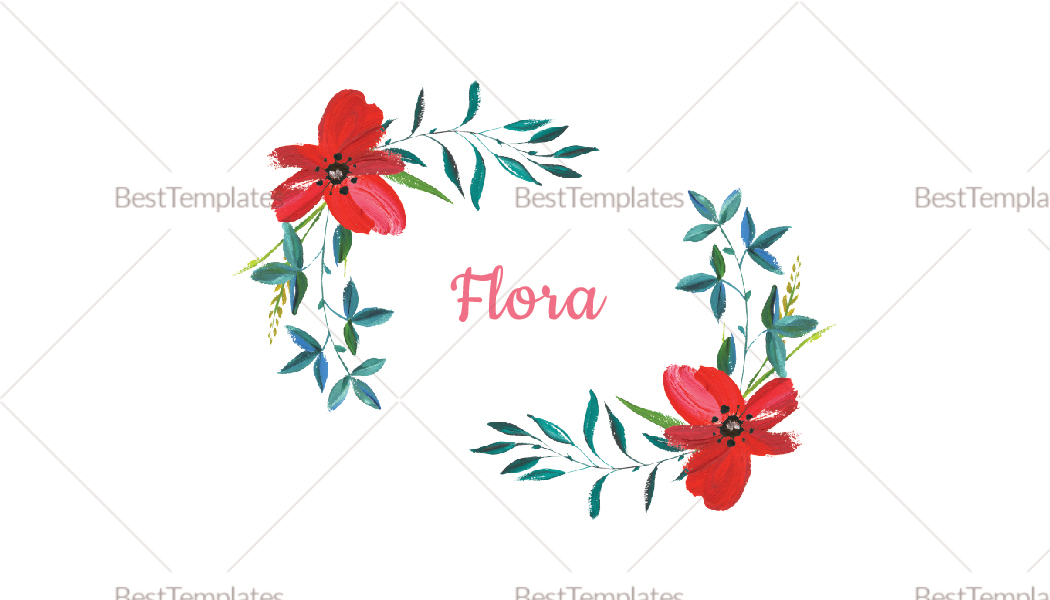 Soft Floral Business Card Template