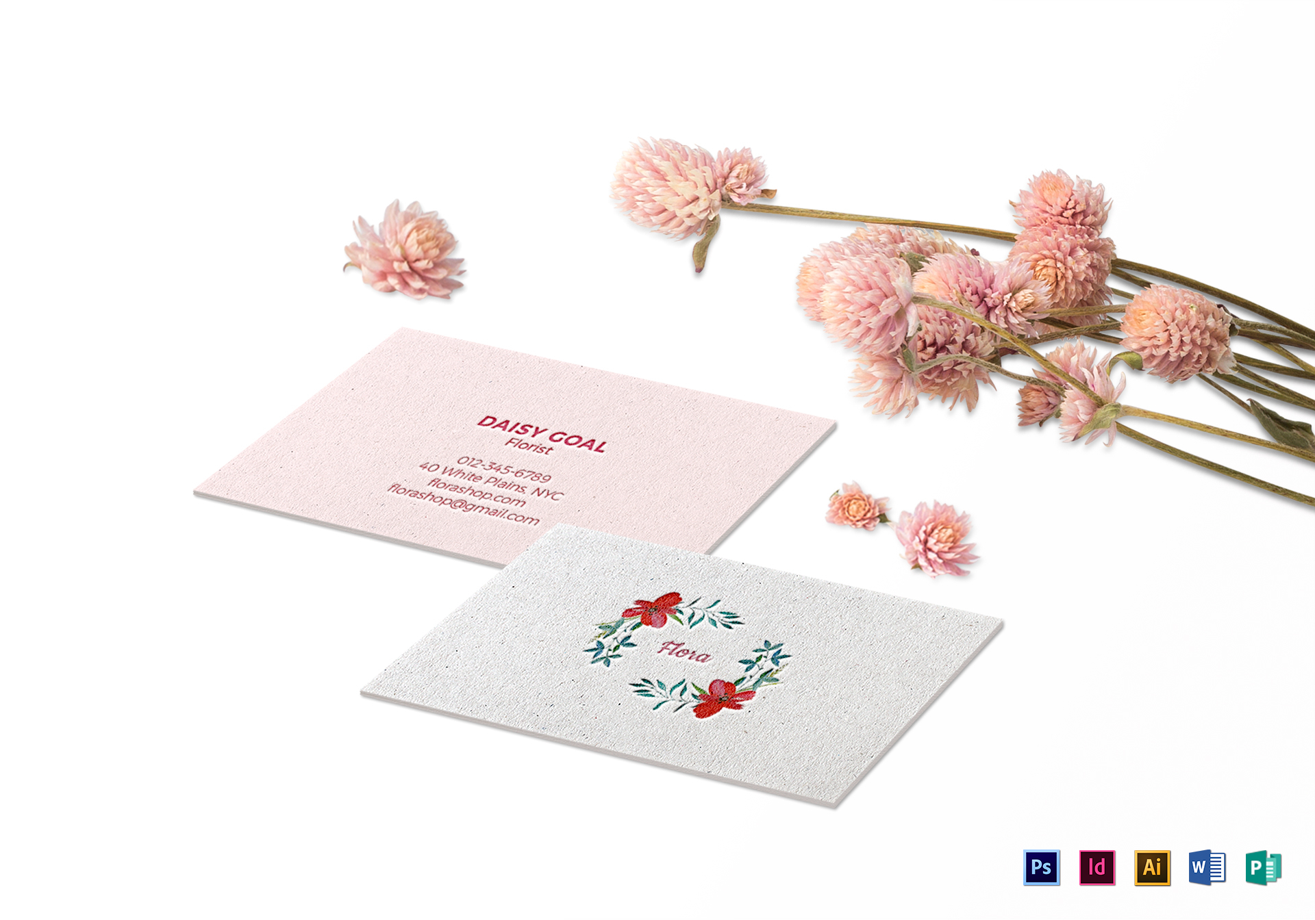 Soft Floral Business Card