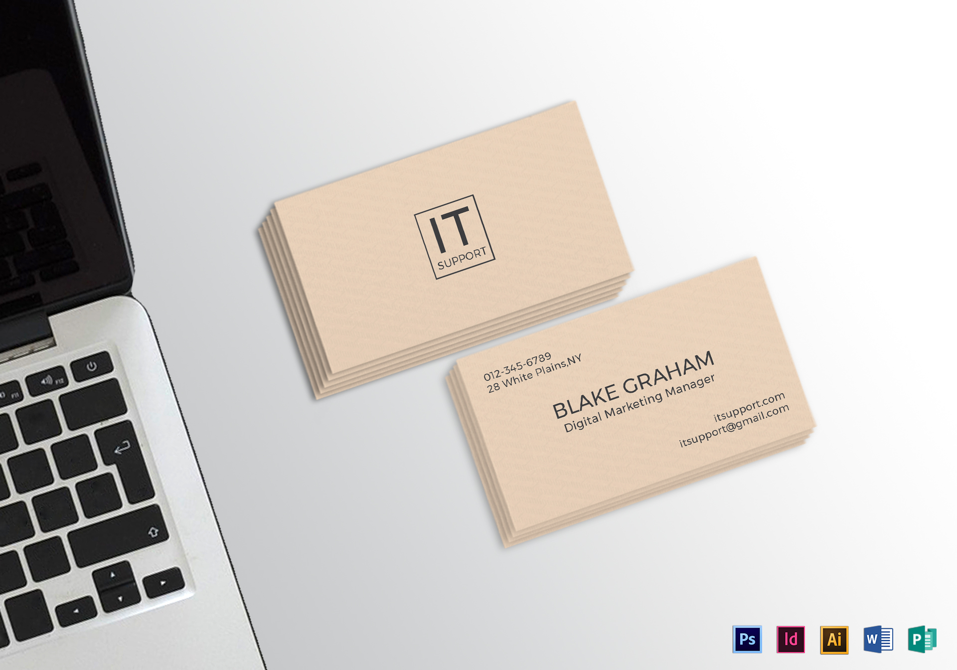 Simple Clean Business Card Template in PSD, Word, Publisher ...