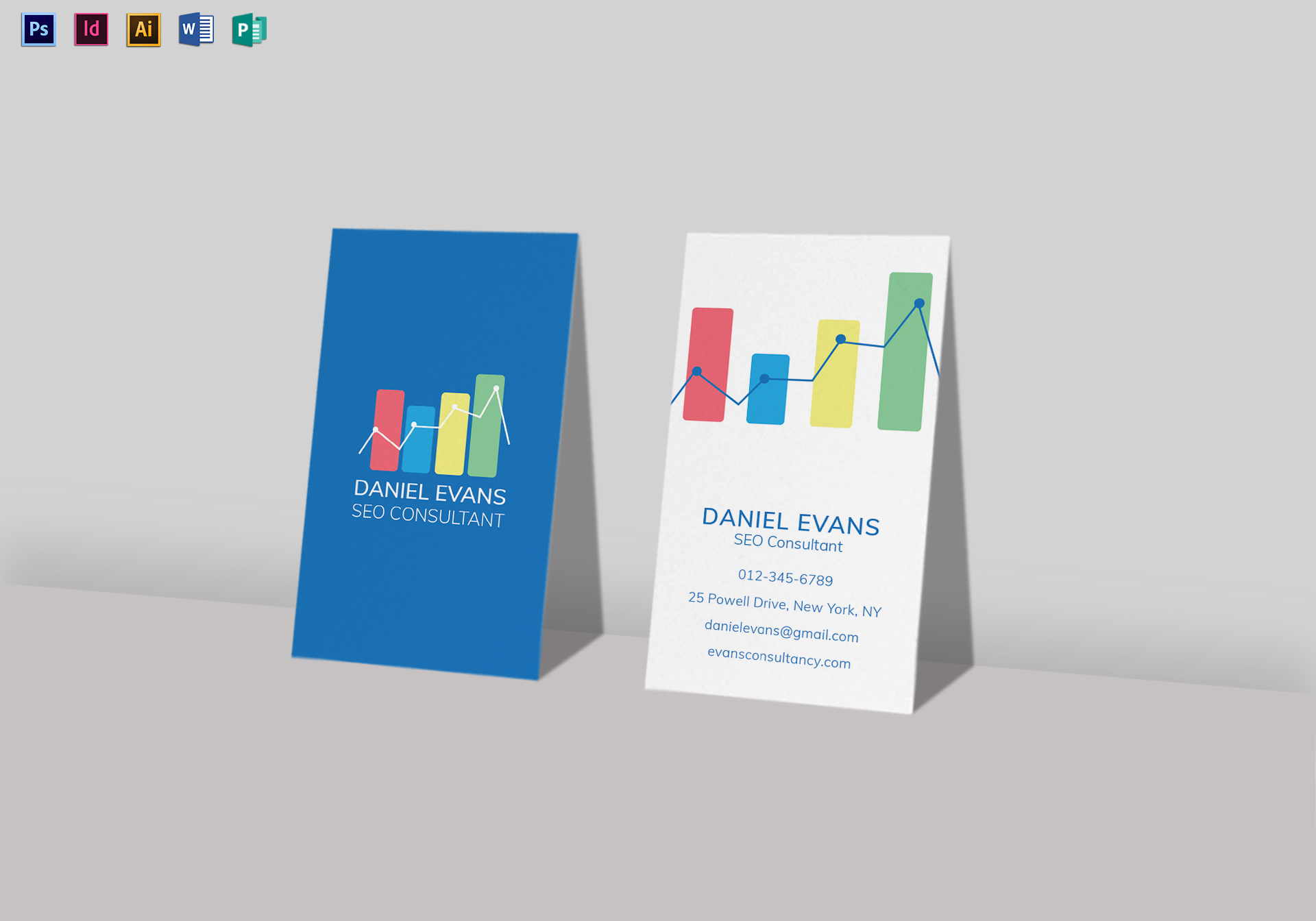 seo consultant business card template in psd  word
