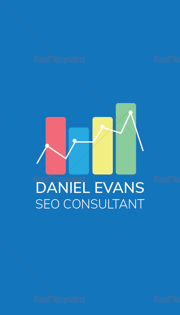 SEO Consultant Business Card Template