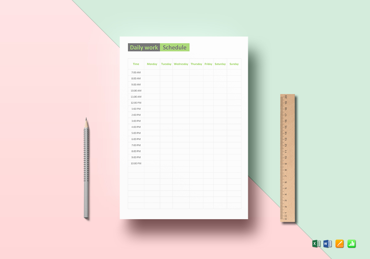 daily work schedule template in word excel apple pages numbers