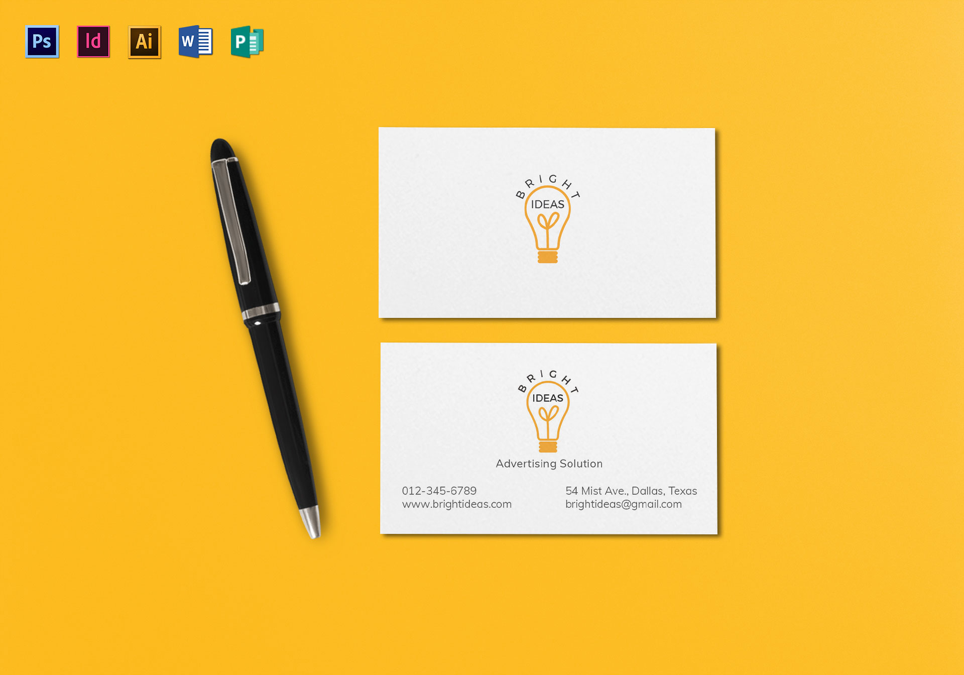 clean minimal business card template in psd word publisher