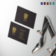 Clean Black Minimal Business Card Template