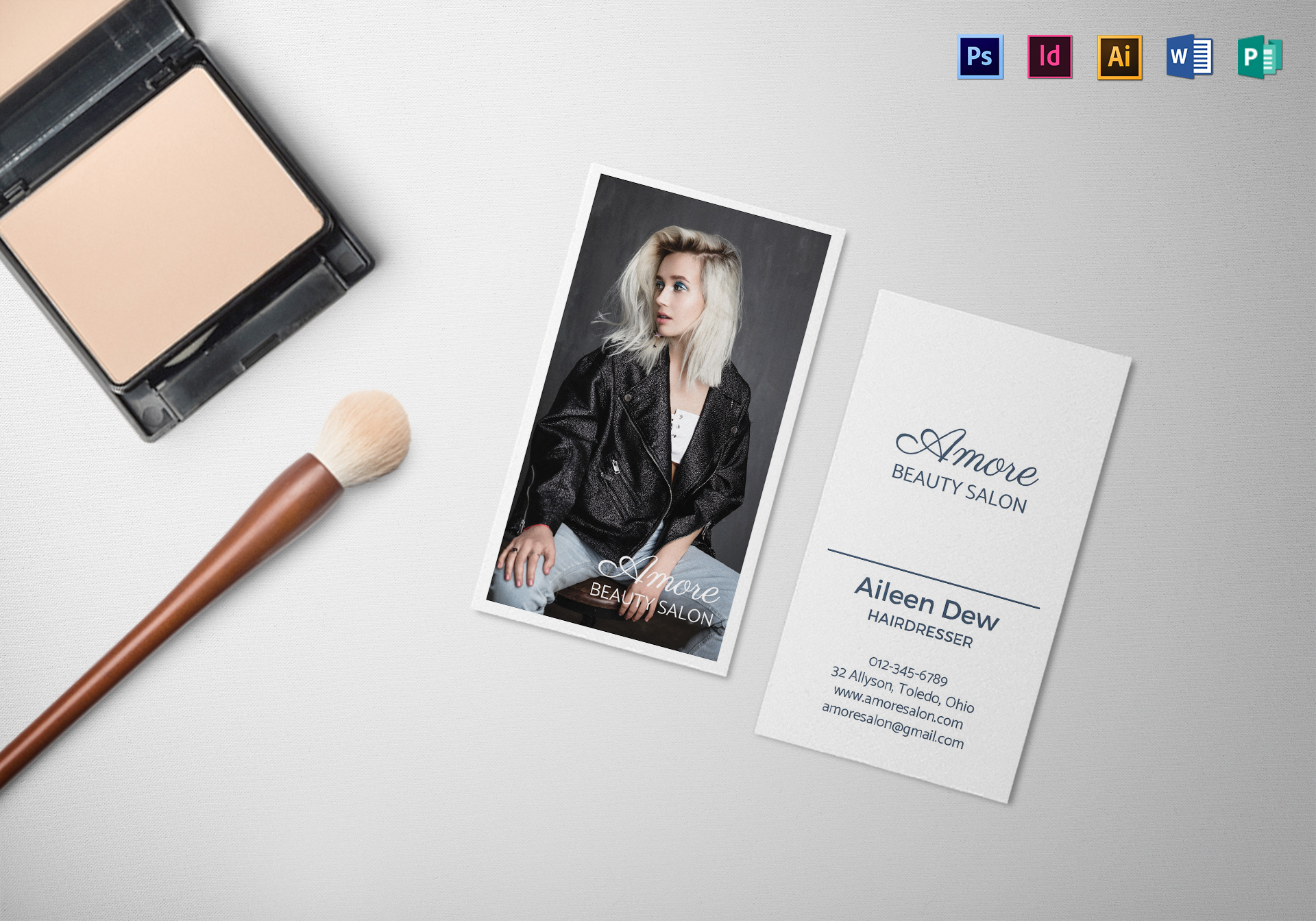 Beauty salon business card template in psd word publisher beauty salon business card template accmission Image collections