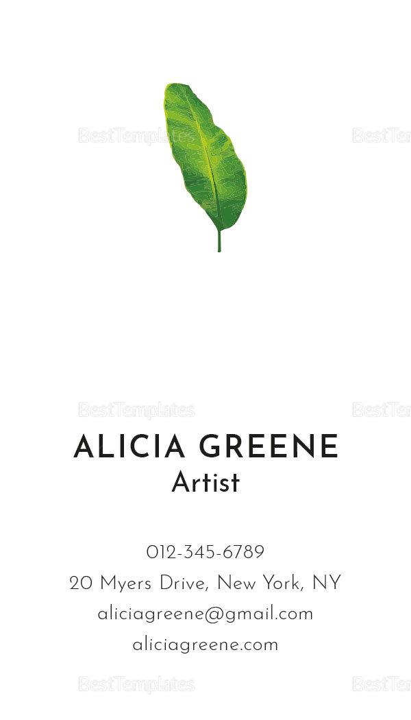Banana Leaf Business Card