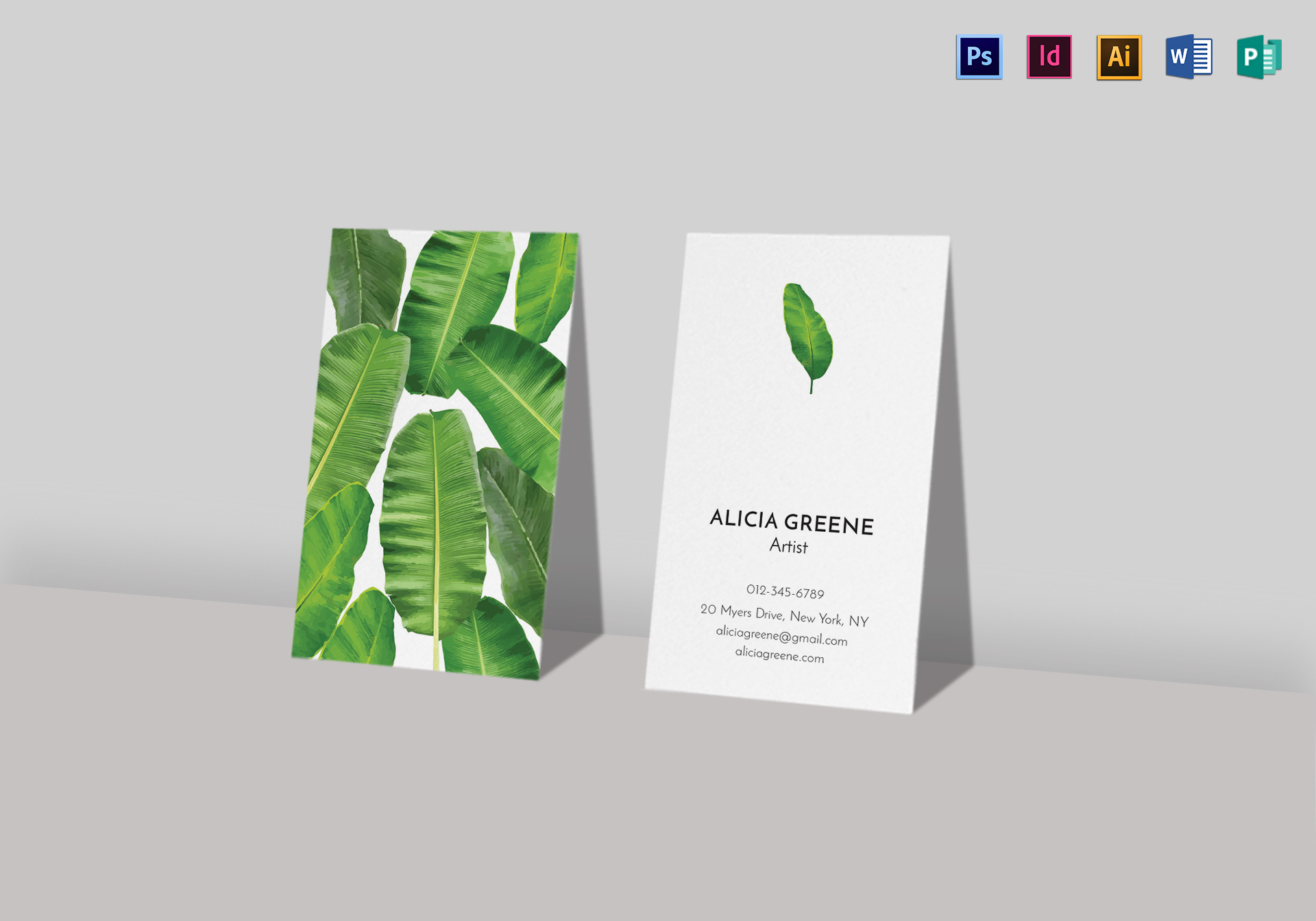 Banana Leaf Business Card Template in PSD, Word, Publisher ...
