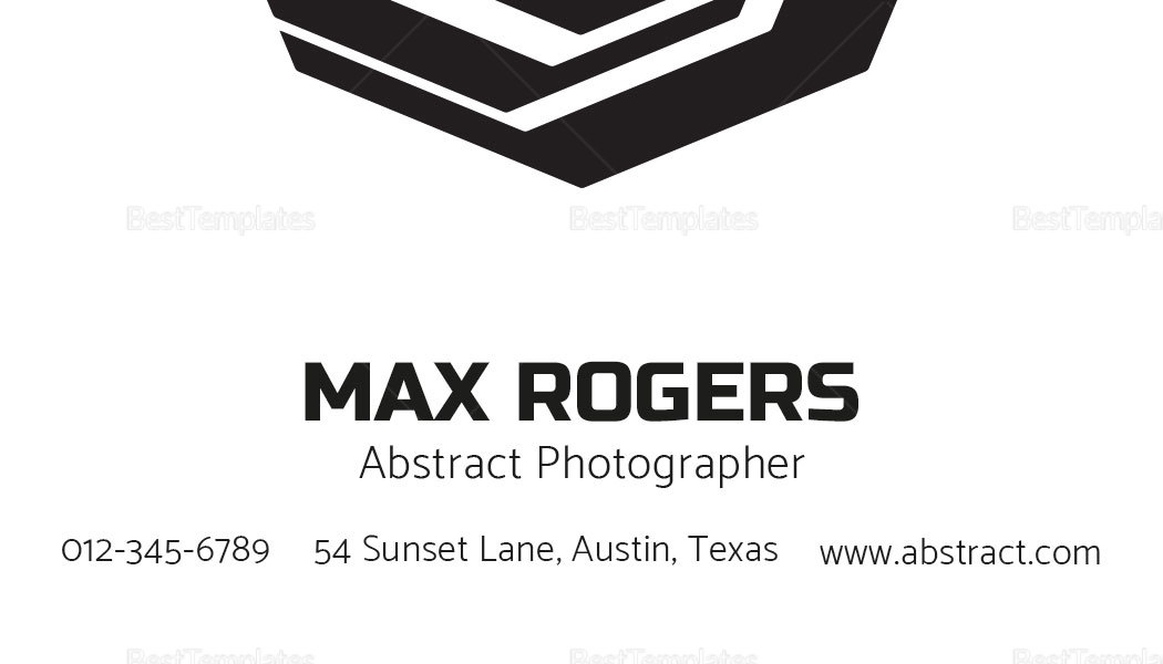 Sample Abstract Photographer Business Card