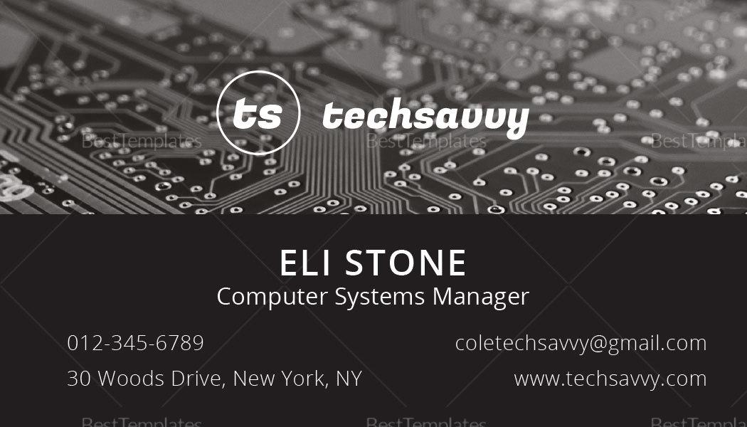 Tech Savvy Inventor Business Card