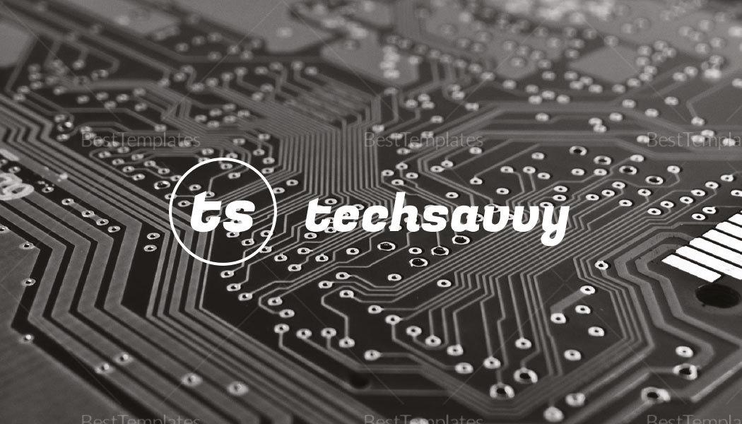 Tech Savvy Inventor Business Card Template