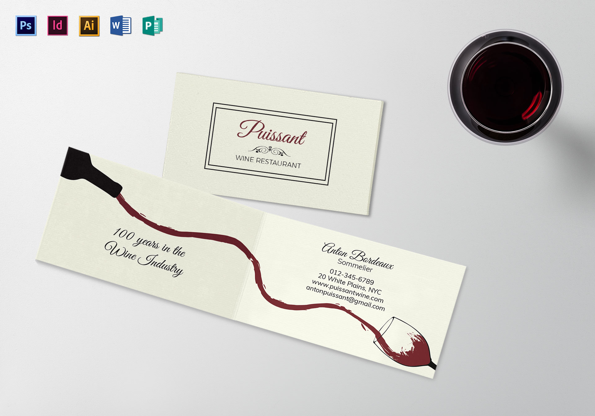 Bi Fold Business Card Template